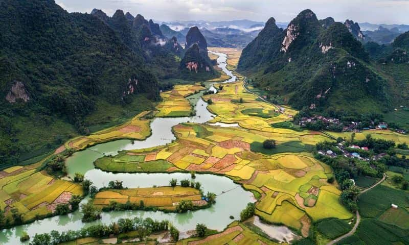 bangs scenery style nam a perspective cao bang vietnam