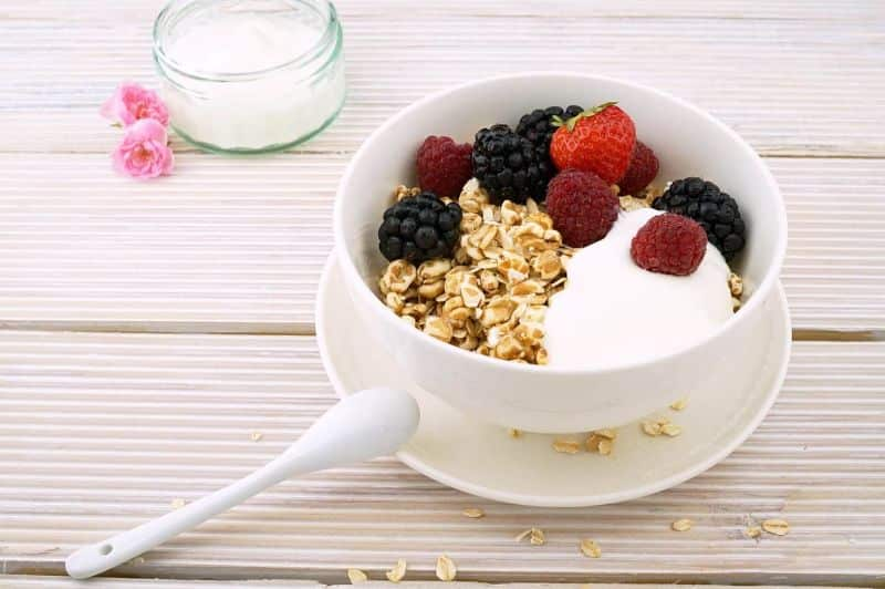 National brunch day,                 berries muesli blackberries