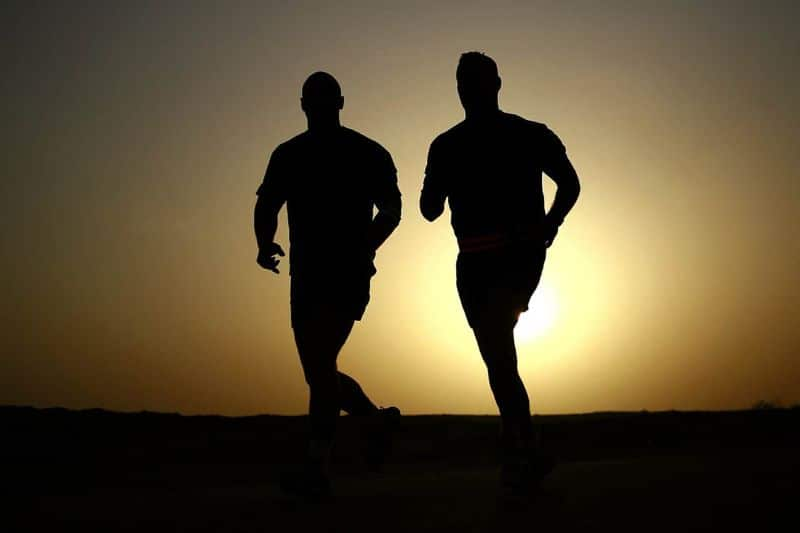 fitness runners silhouettes athletes
