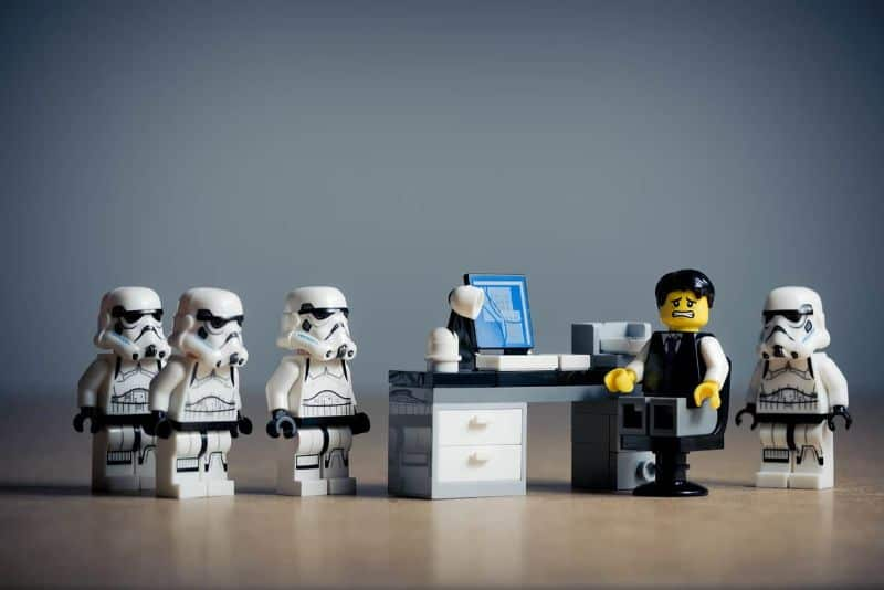 lego office people accused